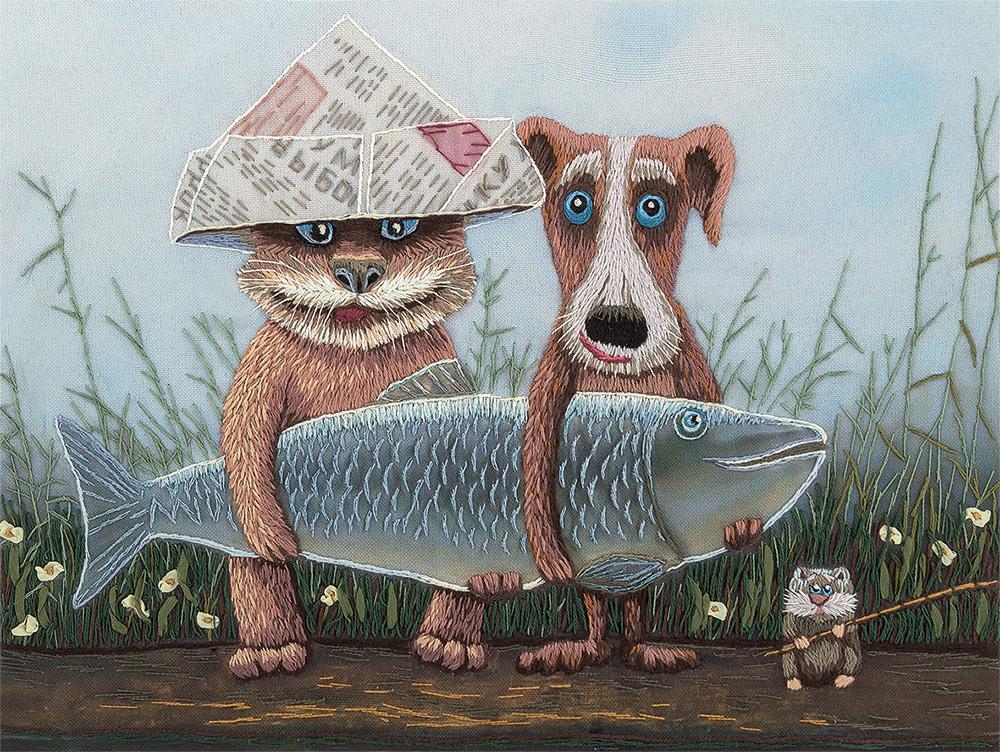 """Набор для вышивания Panna """"Большая рыба"""", 25,5 x 19,5 см"""