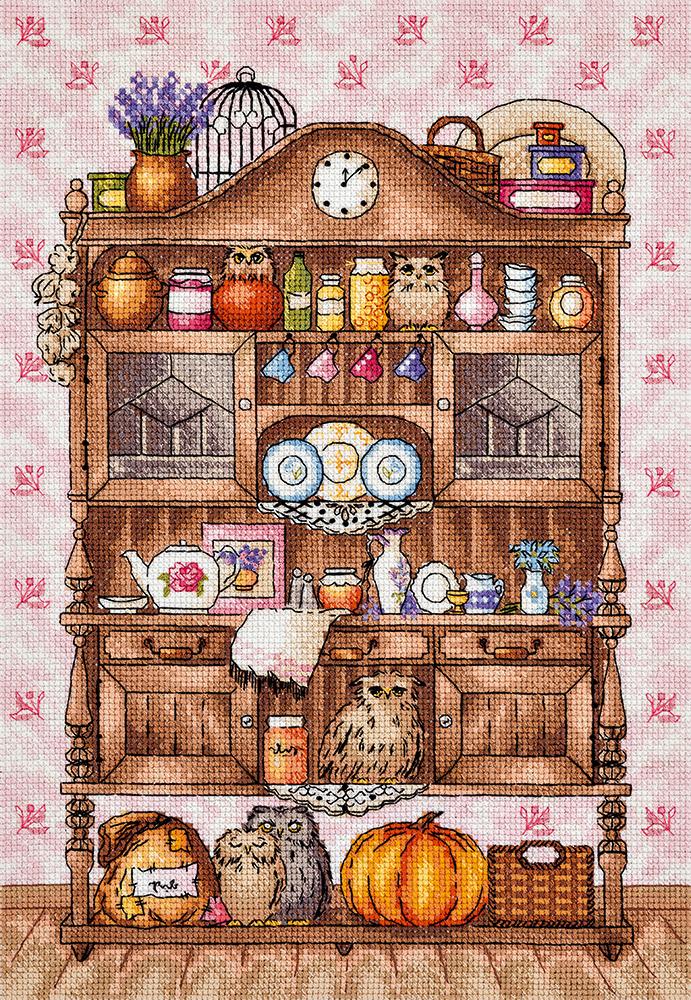 Набор для вышивания крестом Panna Буфет с совами, 32 x 23 см набор для вышивания крестом сирень 41 х 32 см 661158