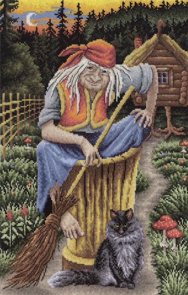 Набор для вышивания крестом Panna Баба - Яга, 35 x 25 смВС-0801Набор для вышивания крестом Panna Баба - Яга поможет вам создать свой личный шедевр - красивую картину, вышитую нитками. Работа, выполненная своими руками, станет отличным подарком для друзей и близких! Набор содержит: - канва Aida № 16 (белого цвета), - мулине Gamma (50 цветов), - схема, - игла. Размер готового изделия: 35 х 25 см.