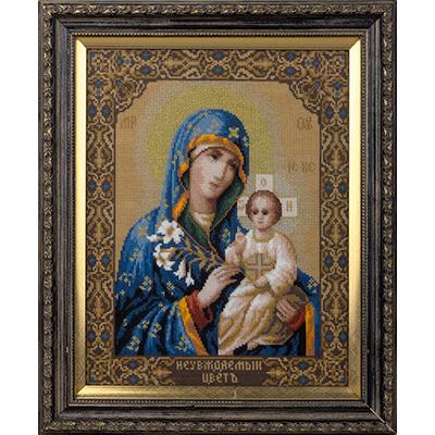 Набор для вышивания крестом Panna Икона Богоматери Неувядаемый цвет, 30 x 25 см