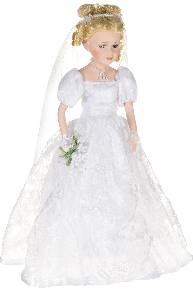 Кукла фарфоровая Невеста, высота 46 см. 15972 куклы lisa jane кукла фарфоровая долорес