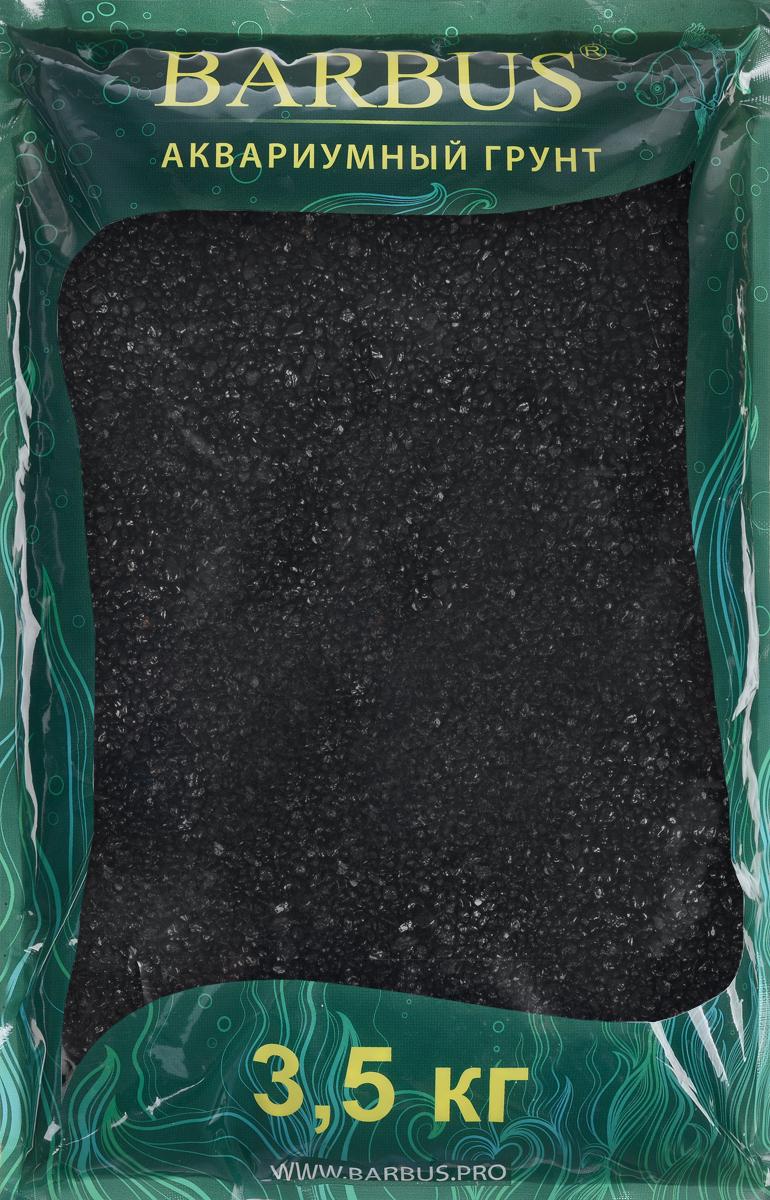 Грунт для аквариума Barbus Премиум, натуральный, кварц, цвет: черный, 2-4 мм, 3,5 кг грунт для аквариума dennerle кристал кварц сланцево серый 1 2мм 5кг