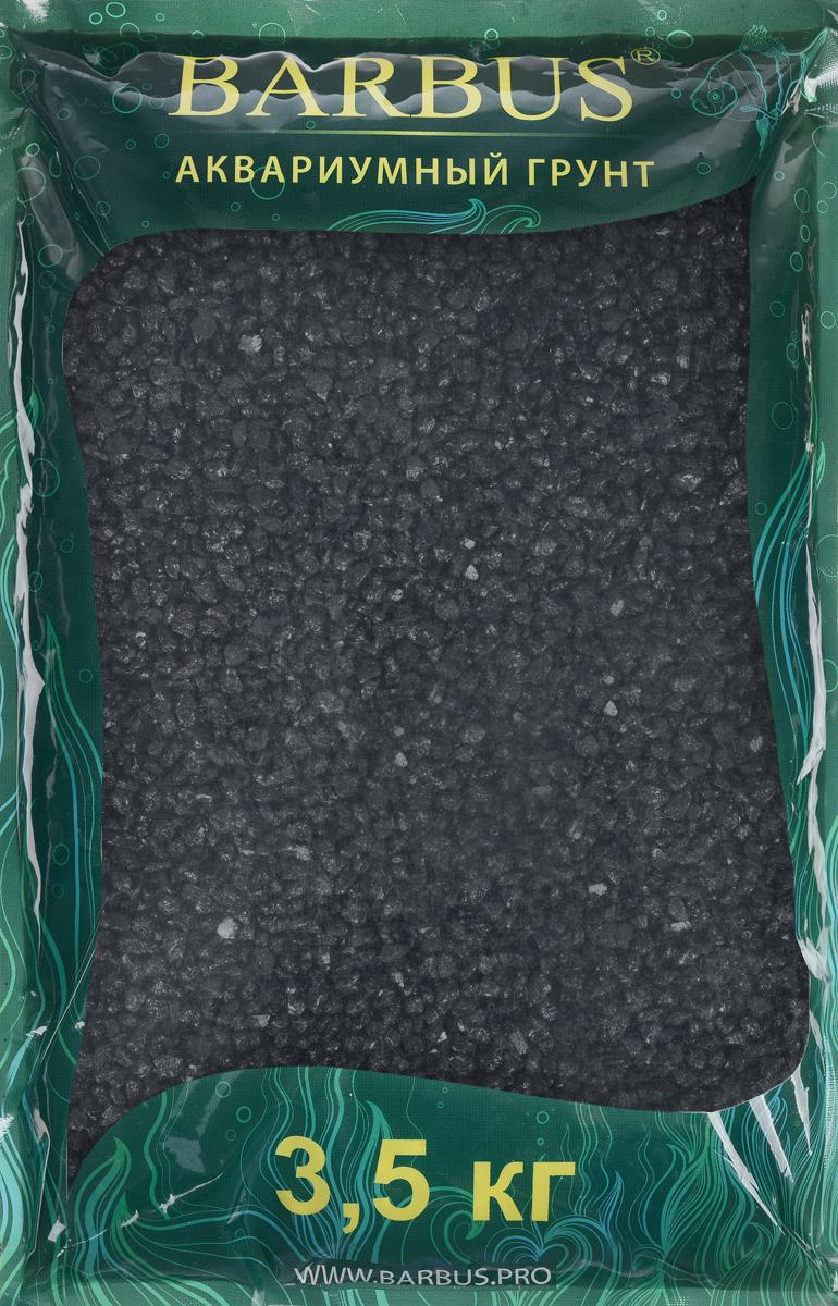 Грунт для аквариума Barbus, натуральный, каменная крошка, цвет: черный, 5-10 мм, 3,5 кг грунт для аквариума barbus натуральный каменная крошка цвет красный 5 10 мм 3 5 кг