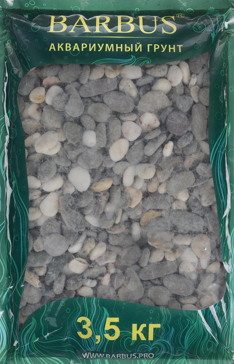 Грунт для аквариума Barbus Феодосия №3, натуральный, галька, 10-15 мм, 3,5 кг грунт для аквариума barbus горный натуральный кварц 2 7 мм 3 5 кг