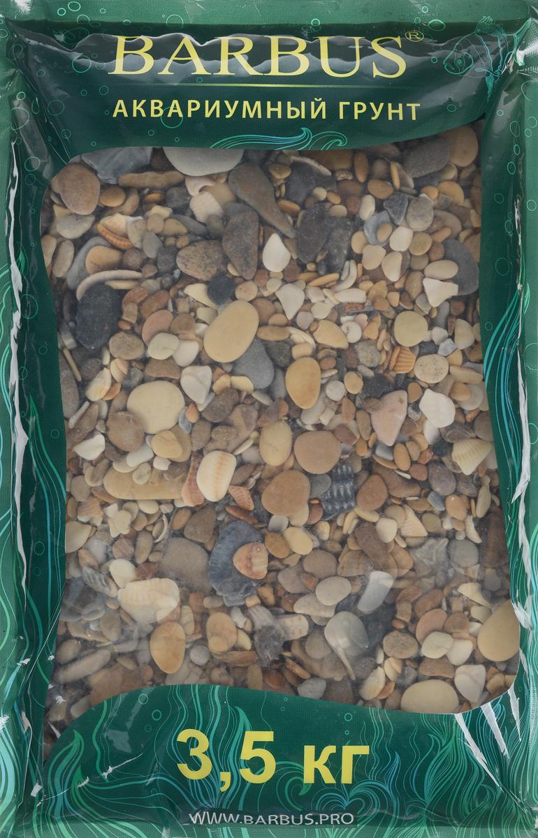 """Грунт для аквариума Barbus """"Каспий"""", натуральный, галька, 2-20 мм, 3,5 кг"""