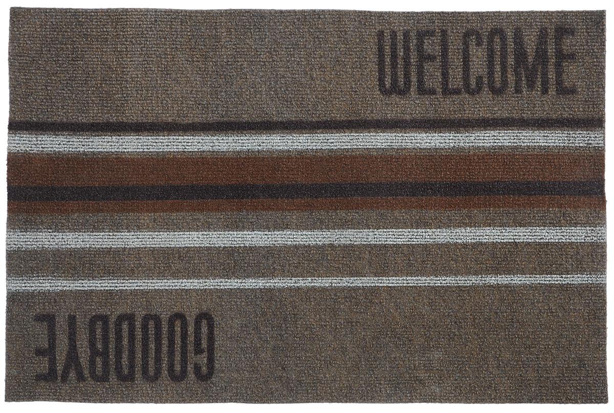 цена на Коврик придверный EFCO Нью Эден, цвет: коричневый, белый, бежевый, 68 х 45 см