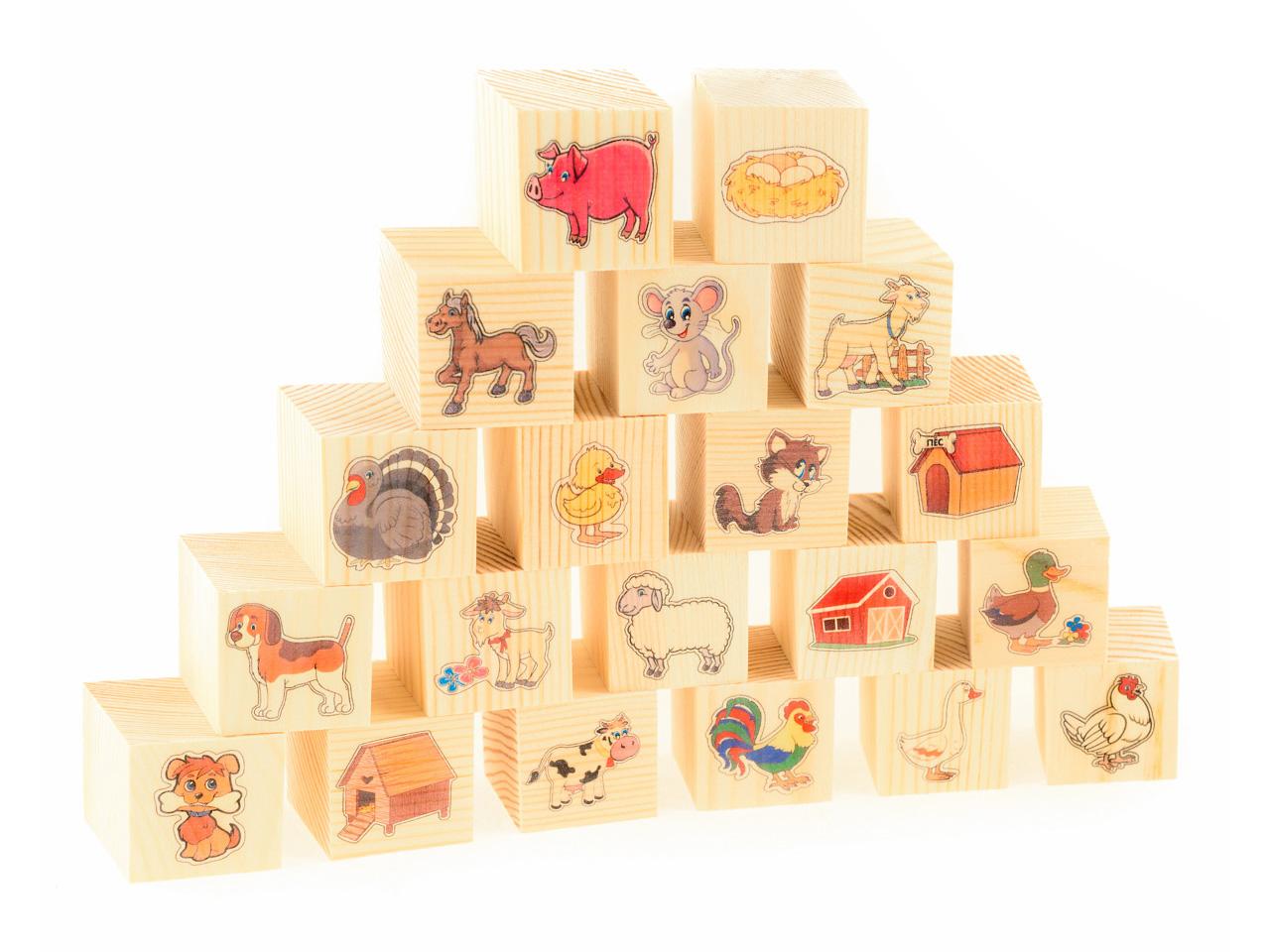 Фото - Развивающие деревянные игрушки Кубики На ферме развивающие деревянные игрушки кубики фрукты