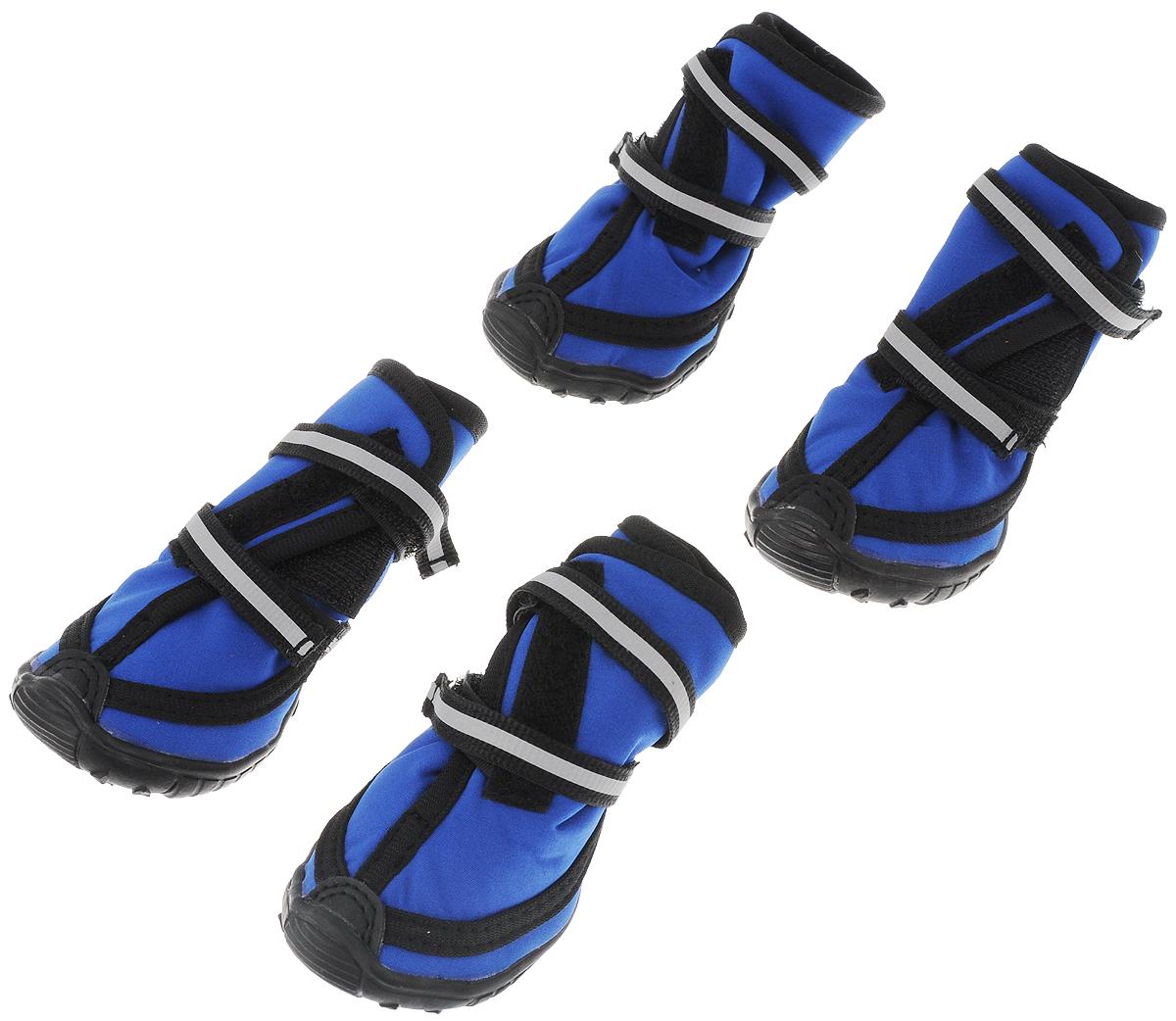 """Сапоги для собак """"Triol"""", унисекс, цвет: черный, синий. Размер M"""