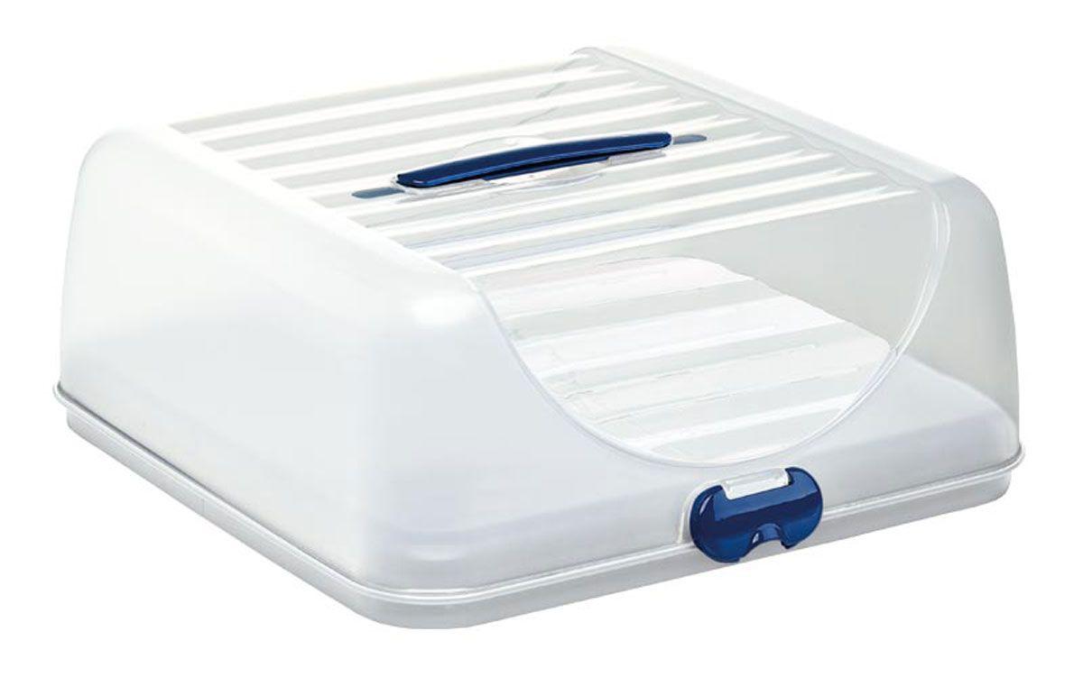 Контейнер для торта Emsa Superline, с охлаждающим элементом, цвет: белый, 2 л пластиковый контейнер для перевозки торта wilton 2105 9952