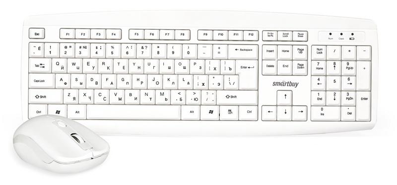 Комплект мышь + клавиатура Smartbuy One 212332AG, White комплект мышь клавиатура smartbuy one 114348ag white