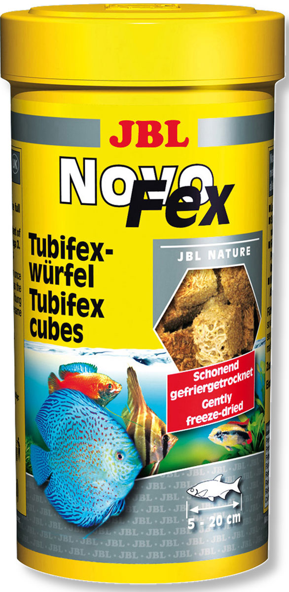 Корм JBL NovoFex для всех аквариумных рыб, 250 мл (30 г) трубочник корм для рыб