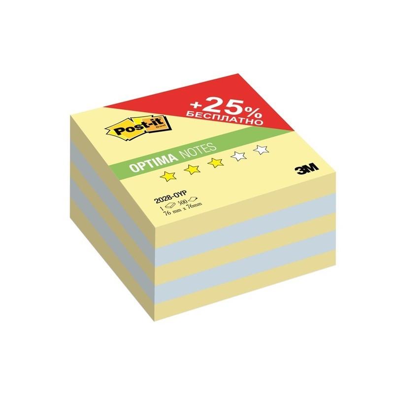 Post-it Бумага для заметок Осень цвет канареечно-желтый голубой 500 листов клейкая бумага для заметок post it basic 416840 3 8 x 5 1 см 12 блоков по 10 листов