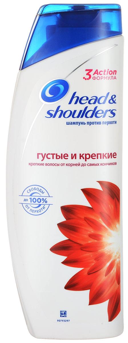 Шампунь против перхоти Head&Shoulders Густые и Крепкие, 400 мл лук для волос от перхоти