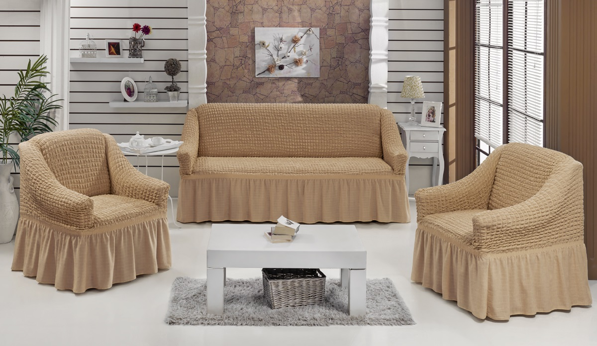 "<b>Набор чехлов для мягкой</b> мебели Burumcuk ""Bulsan"", цвет ..."
