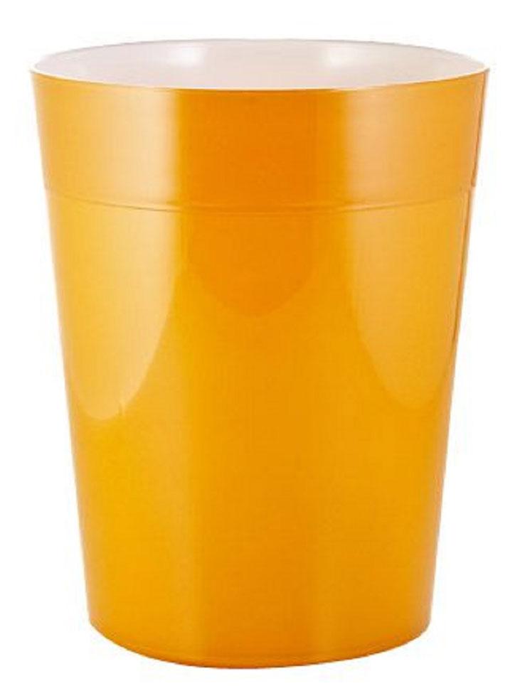 "Ведро мусорное Ridder ""Neon"", цвет: оранжевый, 5 л"