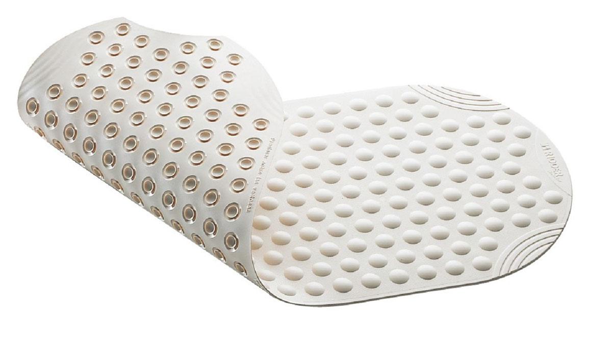 """Коврик для ванной Ridder """"Tecno+"""", противоскользящий, цвет: белый, 38 х 89 см"""