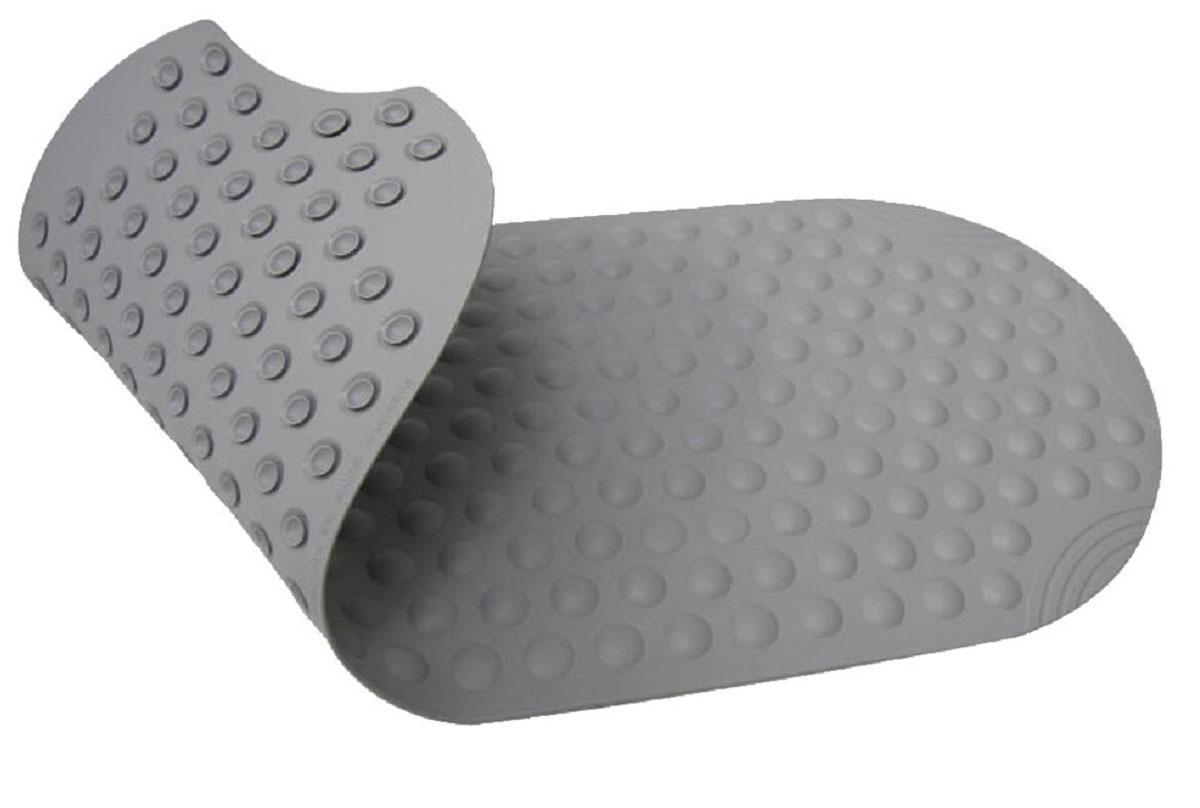 """Коврик для ванной Ridder """"Tecno+"""", противоскользящий, на присосках, цвет: серый, 38 х 89 см"""