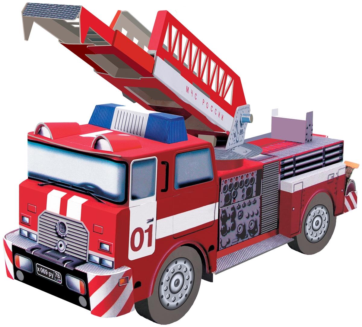 Умная бумага 3D пазл Пожарная машина цена