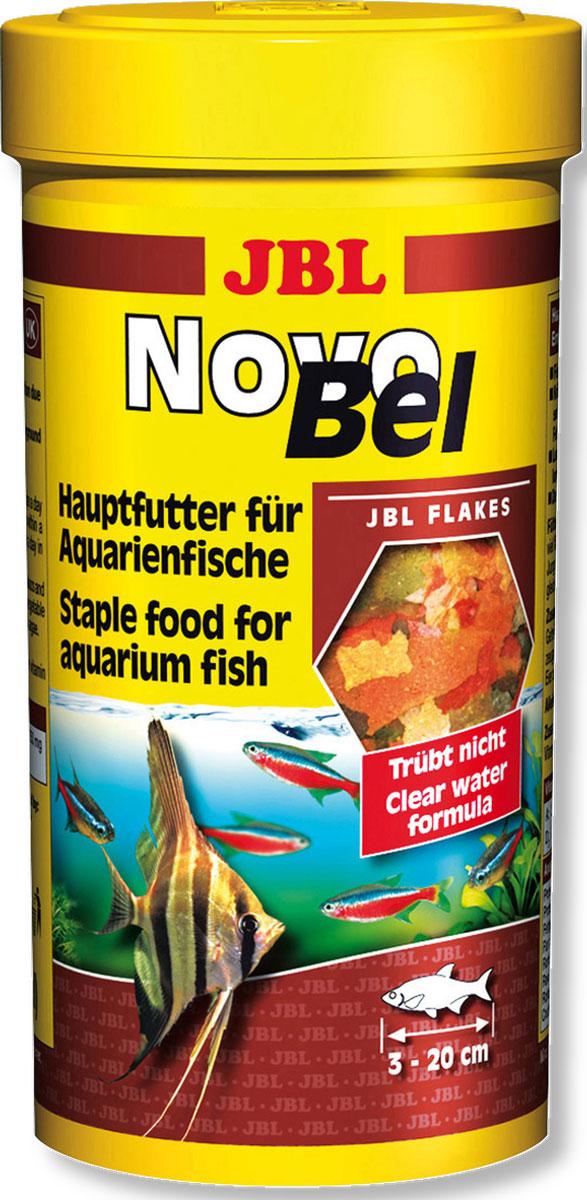 Корм JBL NovoBel для всех аквариумных рыб, в форме хлопьев, 1 л (190 г) корм для рыб jbl novobel основной в форме хлопьев для всех аквариумных рыб 1000мл 160г