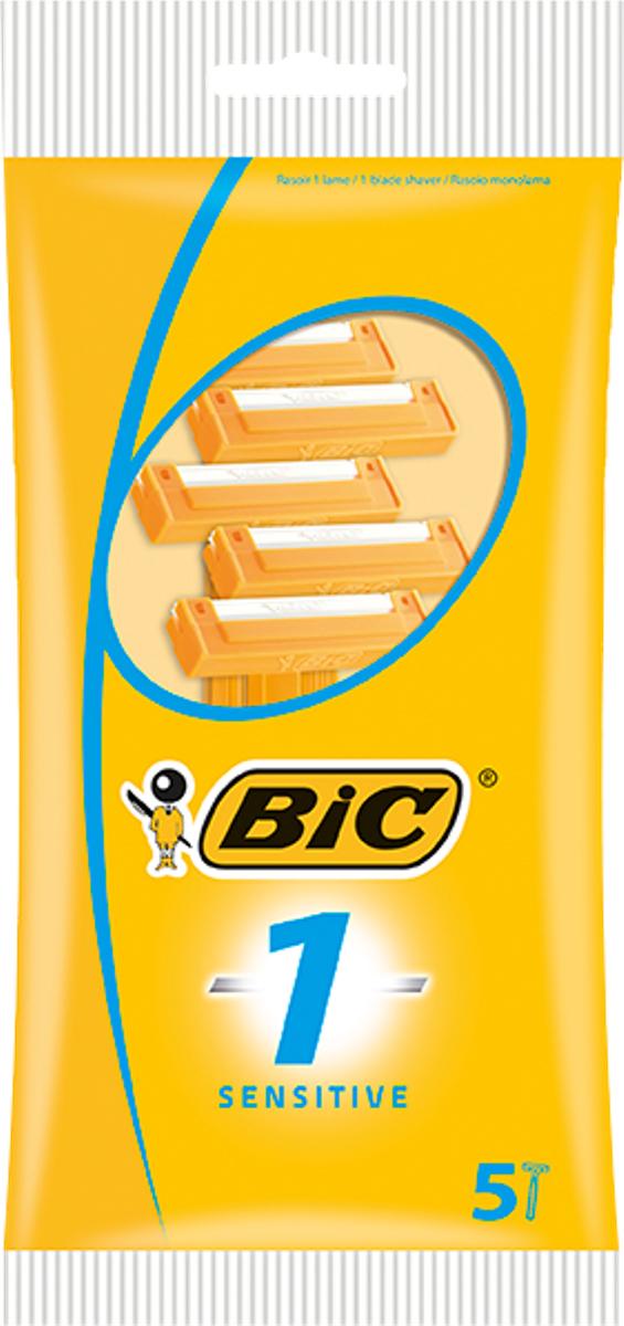 Bic Бритва Bic1 для чувствительной кожи, уп.5 шт бритвенный станок bic pure3 lady 2