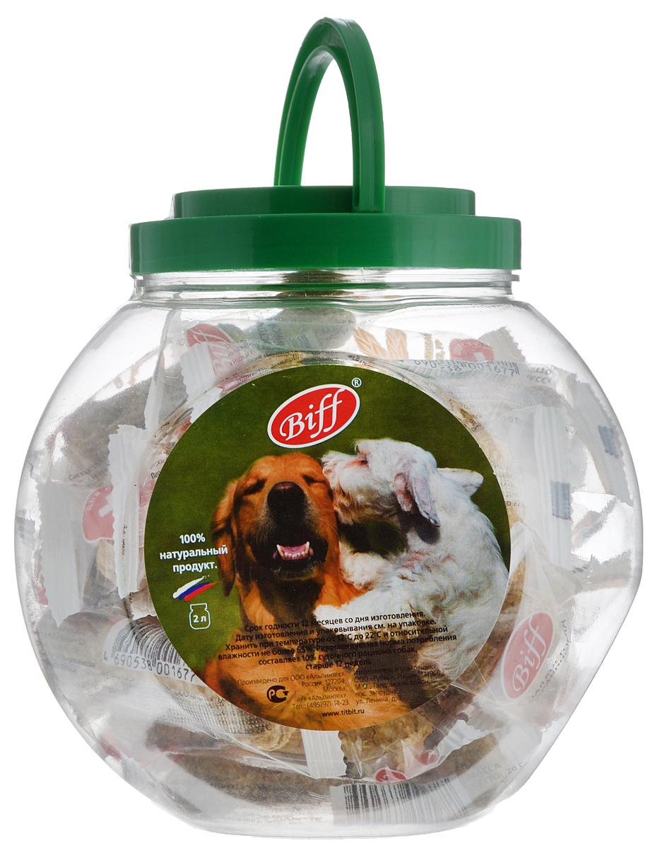 Фото - Лакомство для собак Titbit Biff, мясная косточка с бараниной, 2 л trixie стойка с мисками trixie для собак 2х1 8 л