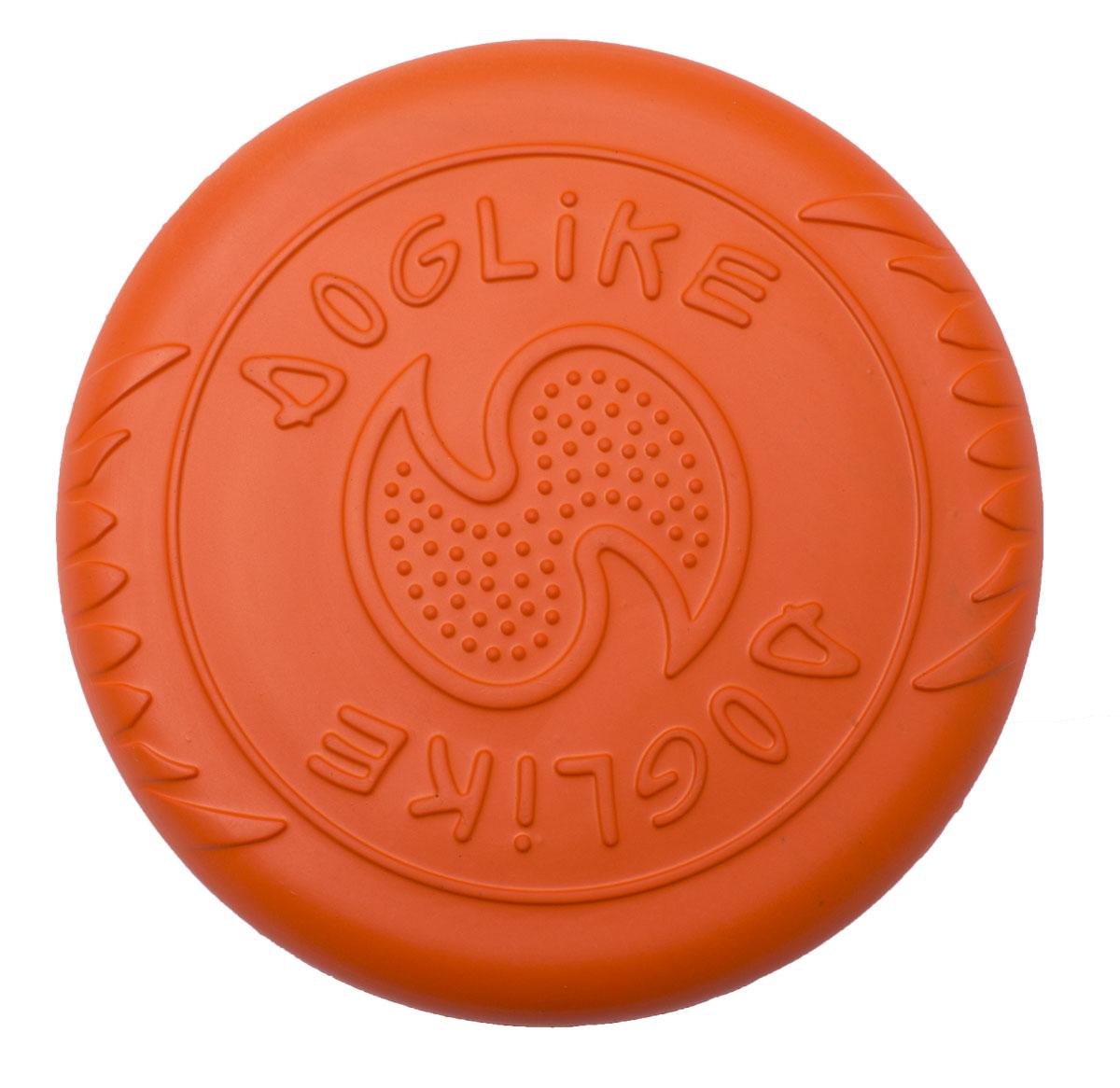"""Игрушка для собак Doglike """"Тарелка летающая"""", цвет: оранжевый, диаметр 18 см"""