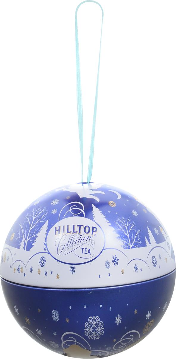 Hilltop Новогодний Шар Снежный ангел Молочный оолонг ароматизированный листовой чай, 80 г hilltop музыкальный колокольчик снежные узоры молочный оолонг ароматизированный листовой чай 100 г
