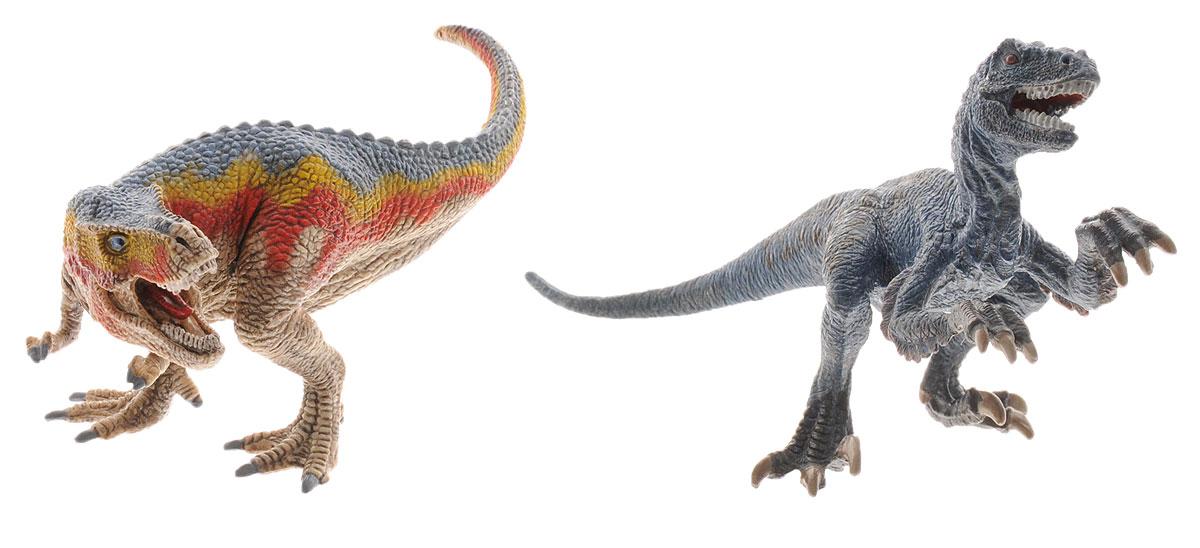 Schleich Набор фигурок Тираннозавр Рекс и Велоцираптор schleich фигурка тираннозавр рекс 14525