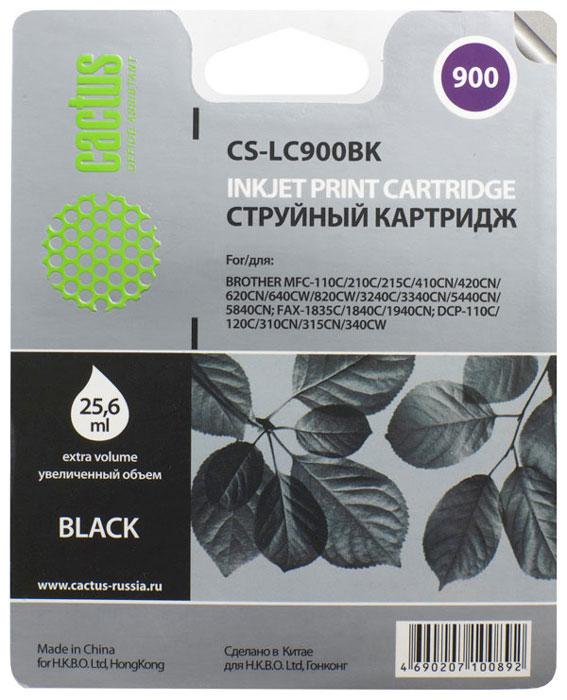 Cactus CS-LC900BK, Black картридж струйный для Brother DCP-110/115/120/MFC-210/215/FAX-1840 цена