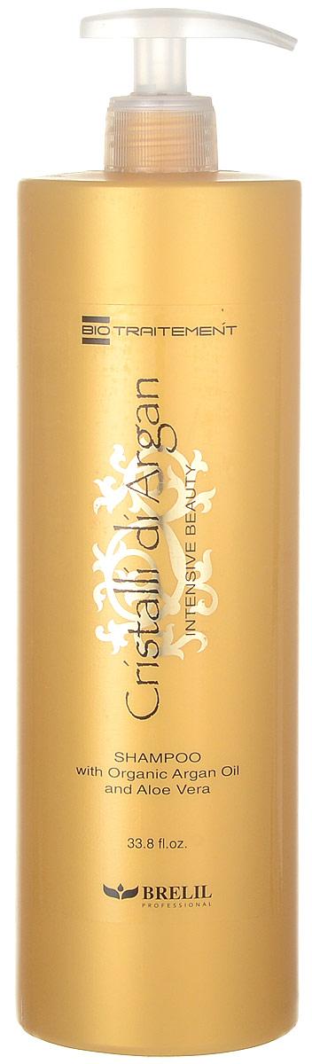 Brelil Шампунь для волос с маслом Аргании и Алоэ Cristalli di Argan Bio Argan Shampoo, 1000 мл