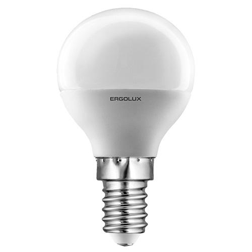 Лампочка Ergolux LED-G45-7W-E14-3K лампочка ergolux led a60 17w e27 3k 13179