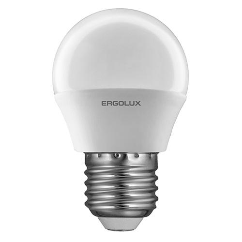 Лампочка Ergolux LED-G45-7W-E27-3K лампочка ergolux led a60 17w e27 3k 13179