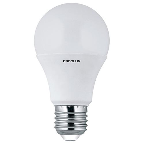 Лампочка Ergolux LED-A60-10W-E27-3K лампочка ergolux led a60 17w e27 3k 13179