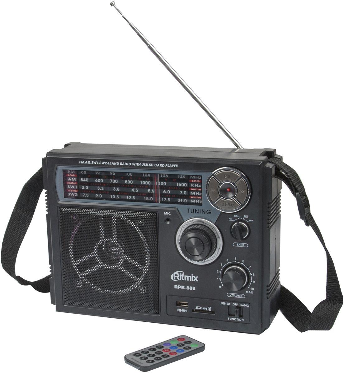 Радиоприемник Ritmix RPR-888, Black