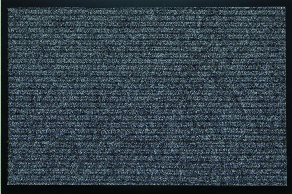 Коврик придверный SunStep Ребристый, влаговпитывающий, цвет: серый, 90 х 150 см коврик придверный sunstep spongy welcome цвет серый 90 х 60 см