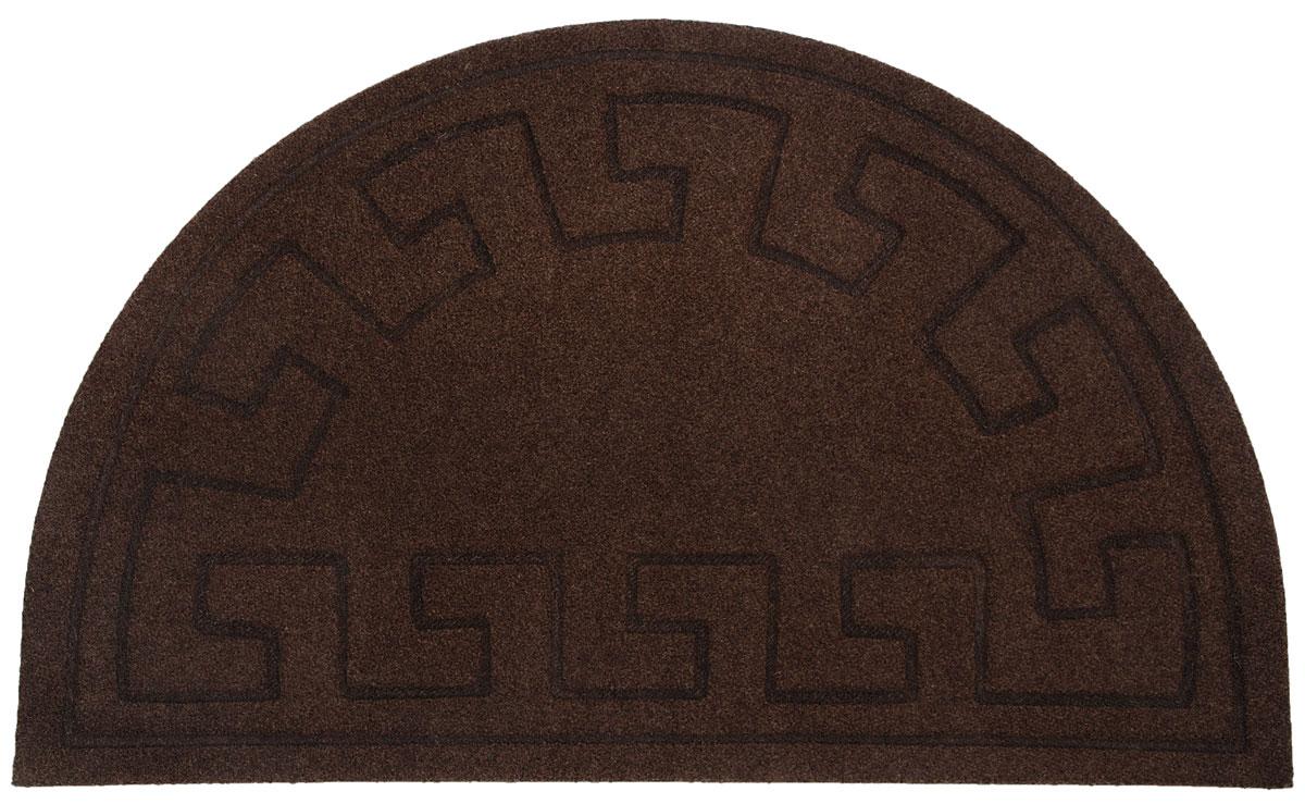"""Коврик придверный EFCO """"Оскар. Геометрический узор"""", цвет коричневый, 65 х 40 см"""