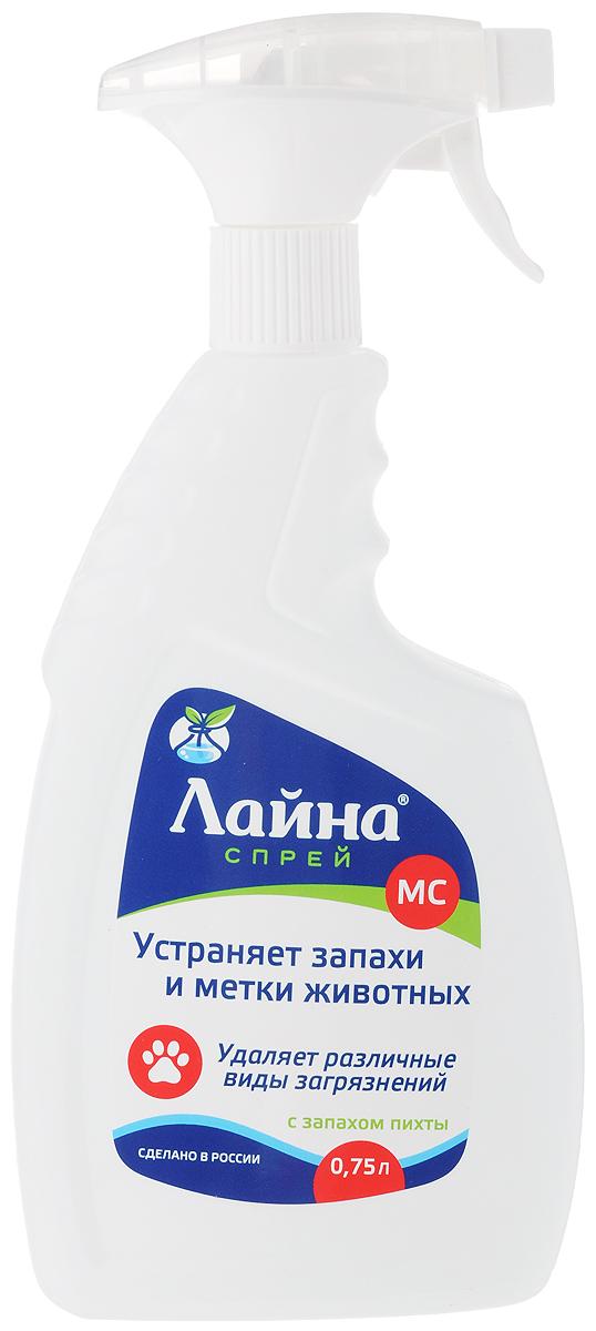 """Спрей для уборки за животными """"Лайна"""", с ароматом пихты, 750 мл"""