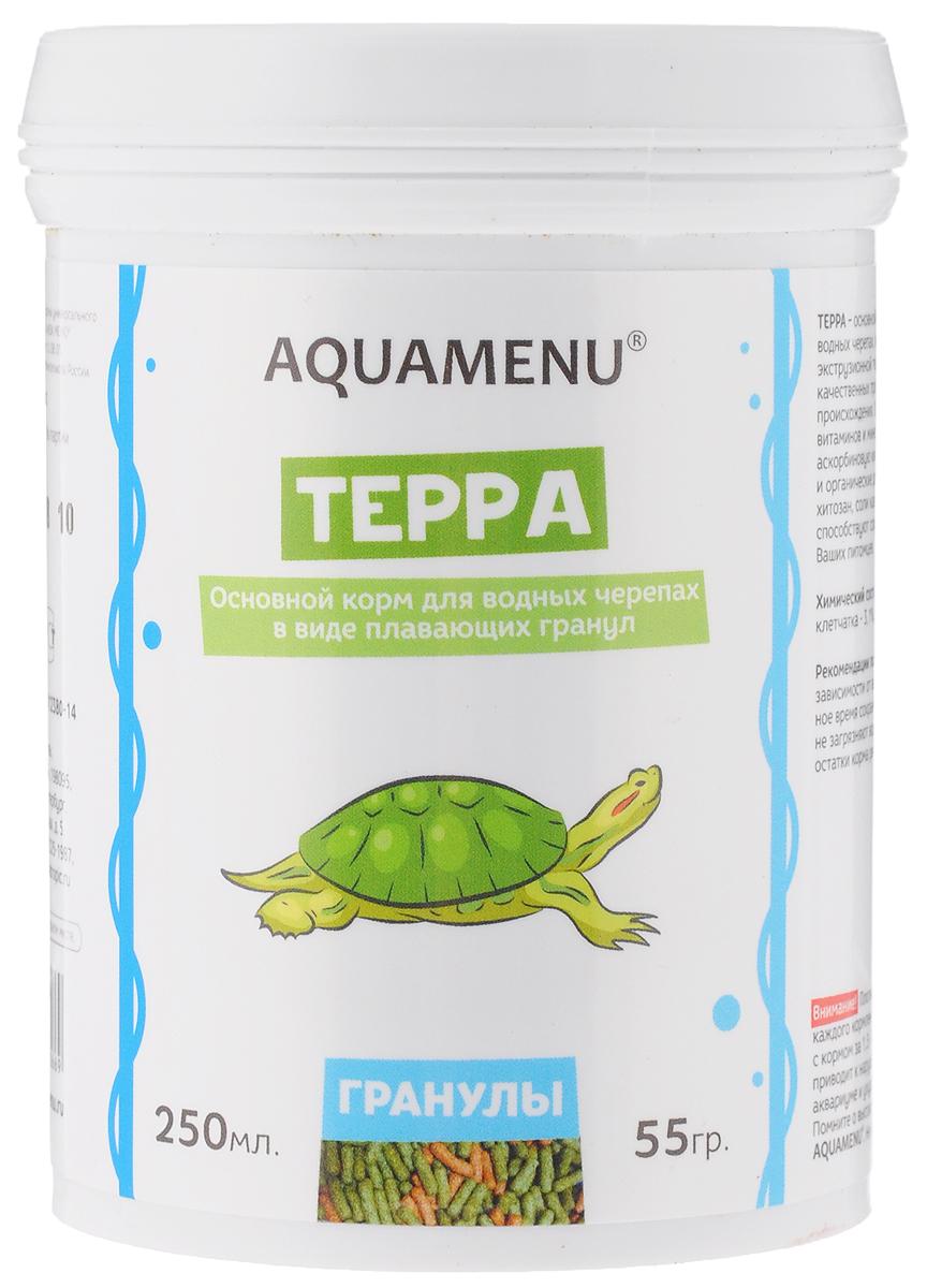 Корм Aquamenu Терра, для водных черепах, 250 мл (55 г) корм аква меню терра для водных черепах в виде плавающих гранул 15 г