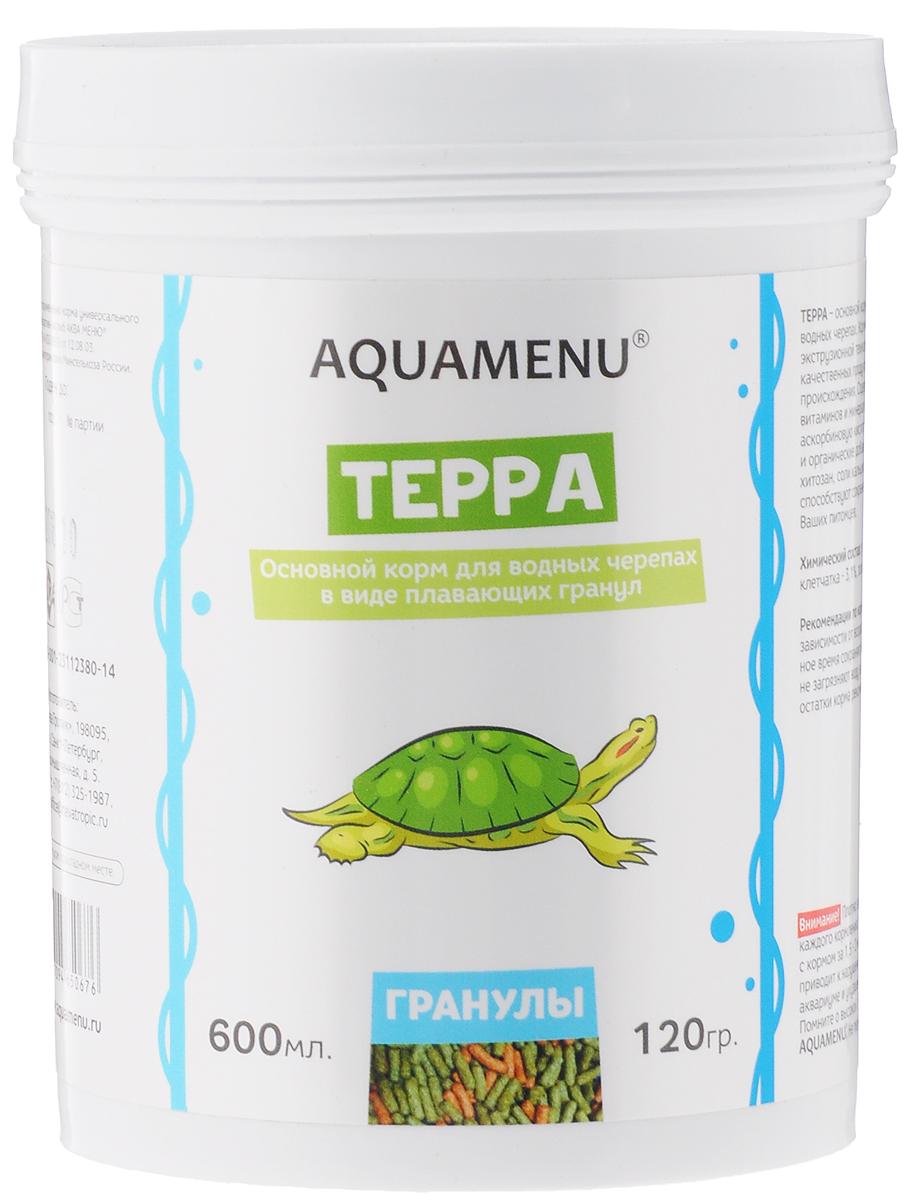 Корм Aquamenu Терра, для водных черепах, 600 мл (120 г) корм аква меню терра для водных черепах в виде плавающих гранул 15 г