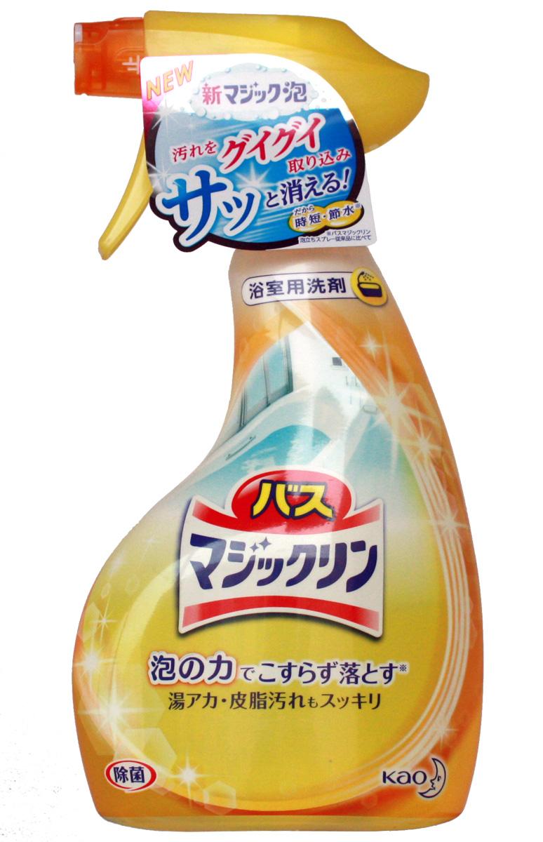 Средство чистящее для ванной Magiclean, пенящееся, с распылителем, 380 мл средства для уборки kao пенящееся чистящее средство magiclean от жирных загрязнений на кухне с распылителем 400 мл