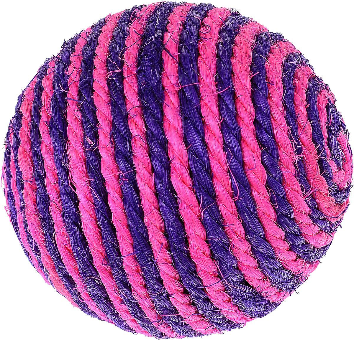 """Игрушка для кошек Triol """"Шарик"""", цвет: розовый, фиолетовый, диаметр 9,5 см"""