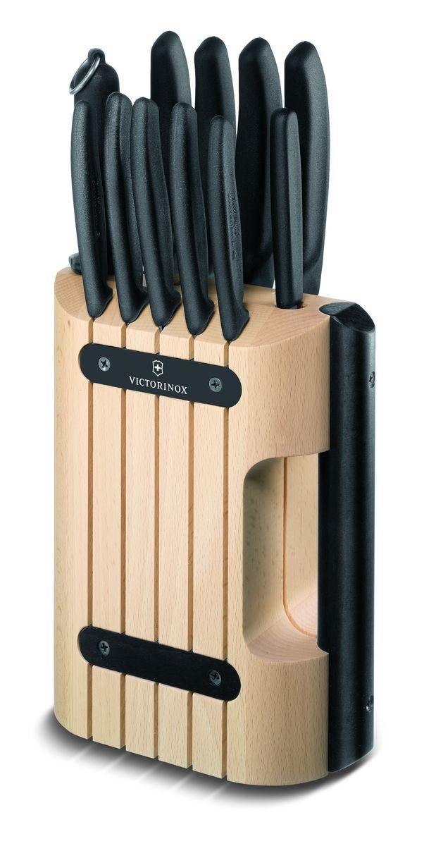 """Набор кухонных ножей """"Victorinox"""", на подставке, 12 предметов"""
