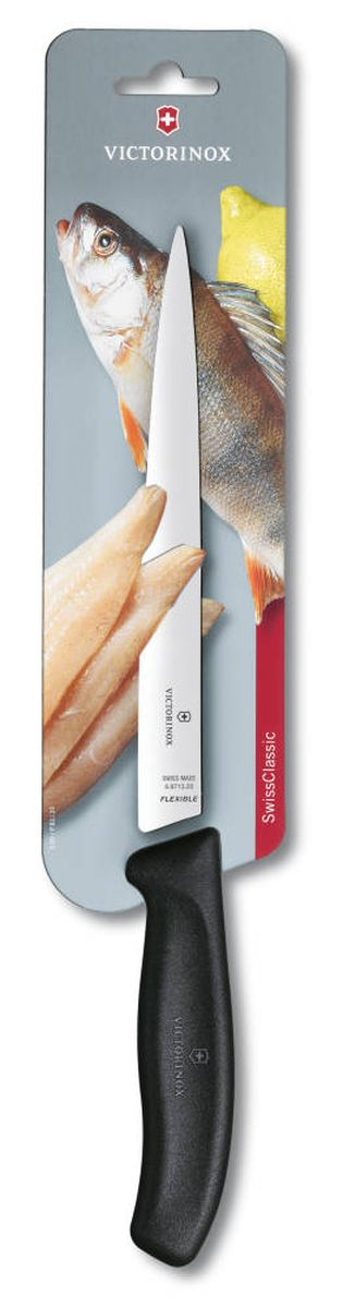 Нож филейный Victorinox SwissClassic, гибкий, длина лезвия 20 см цена