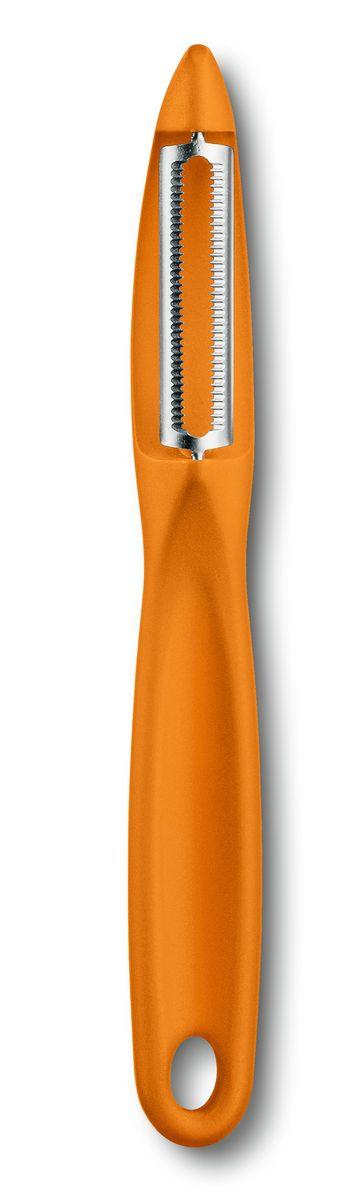 """Овощечистка """"Victorinox"""", двустороннее зубчатое лезвие, цвет: оранжевый"""