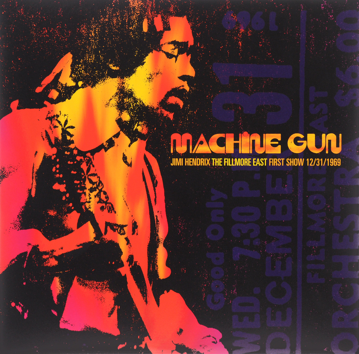 Джими Хендрикс Jimi Hendrix. Machine Gun. Jimi Hendrix The Filmore First Show East 12/31/1969 (2 LP) плектр dunlop jimi hendrix 12 medium