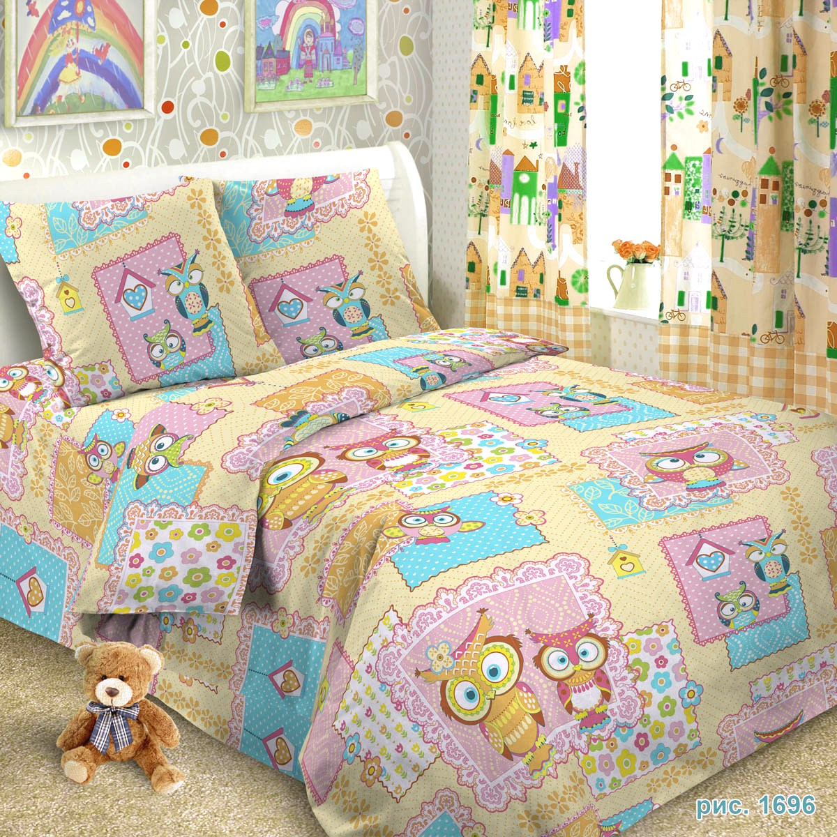 Letto Комплект детского постельного белья Сова 3 предмета