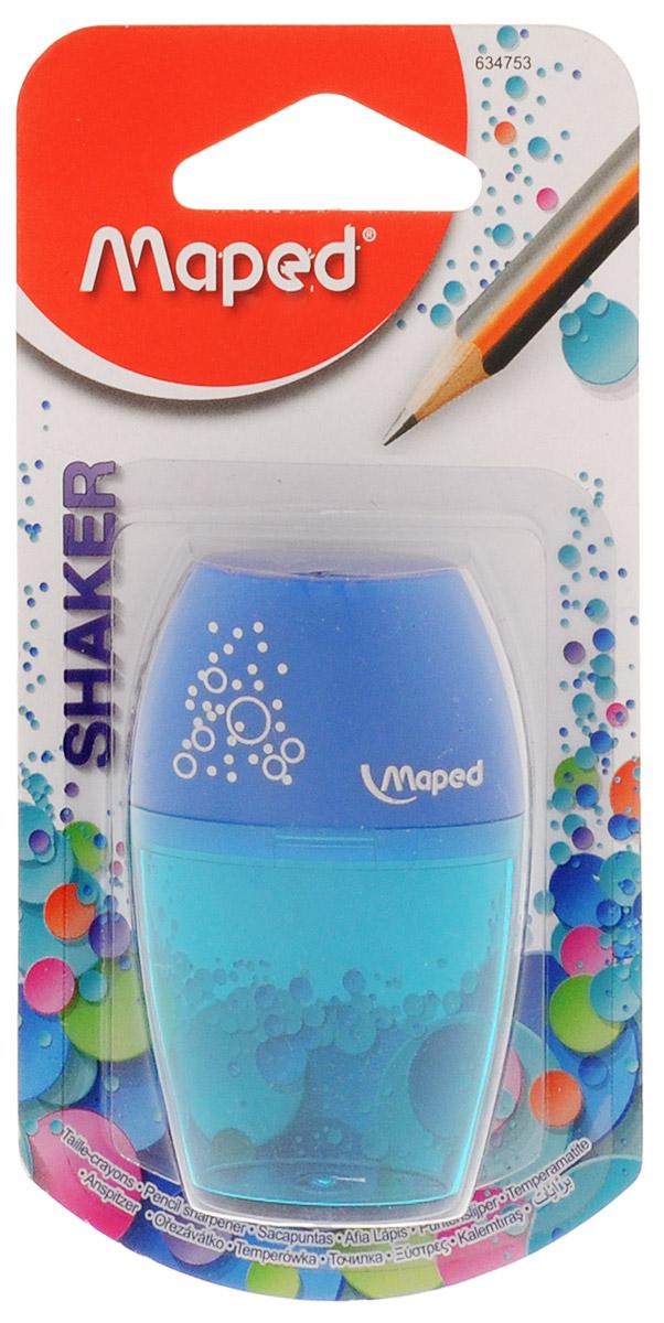 Maped Точилка Шейкер с контейнером цвет синий бирюзовый