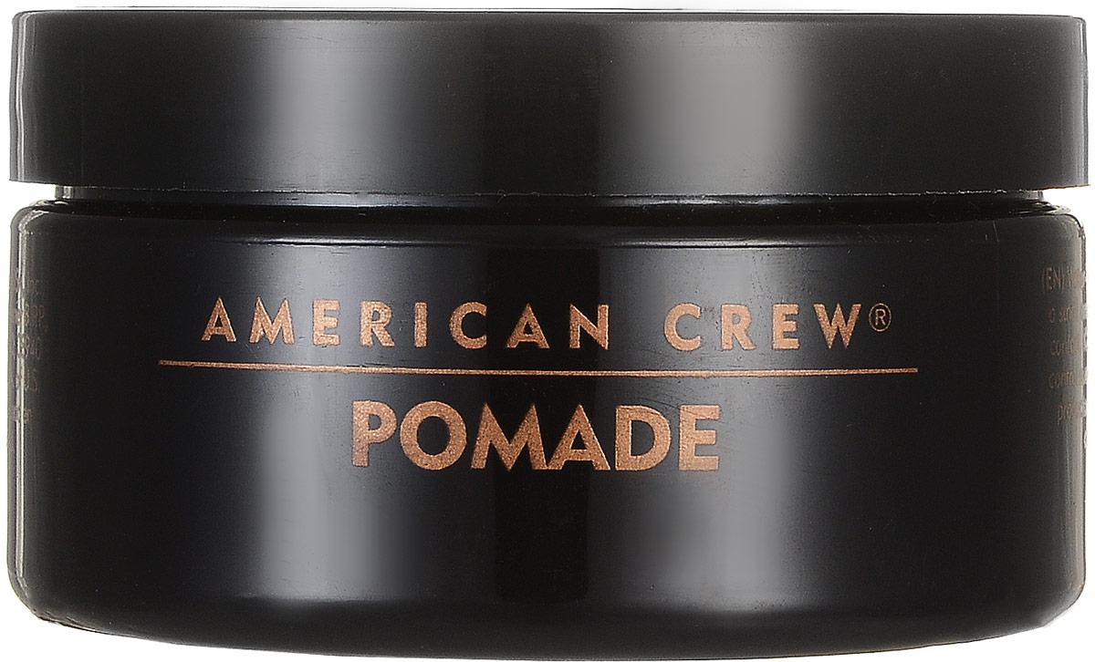 American Crew Помада со средней фиксацией и высоким уровнем блеска для укладки волос Pomade 85 г american crew формирующая глина для волос мужская сильной фиксации со средним уровнем блеска king classic molding clay 85 г page 4 page 4
