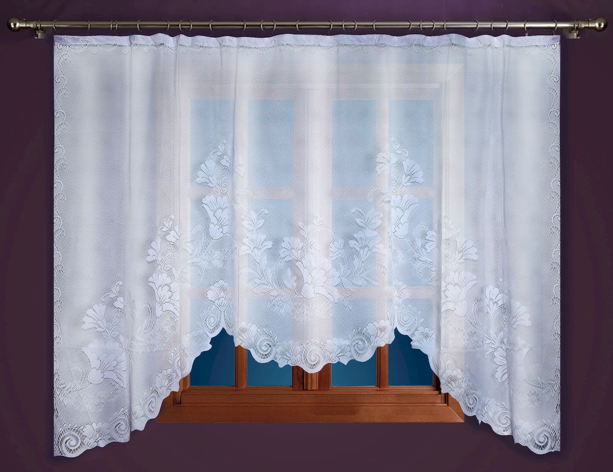 Гардина Zlata Korunka, на зажимах, цвет: белый, высота 160 см. 88864 гардина zlata korunka на зажимах высота 160 см 88858