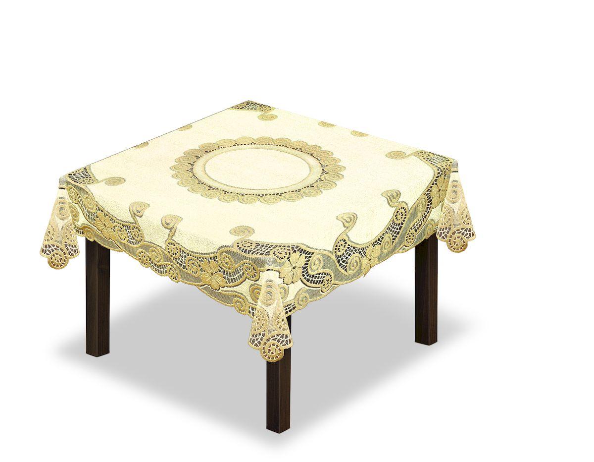 Скатерть Haft, квадратная, цвет: кремовый, золотистый, 150 x 150 см. 230338 скатерть haft овальная цвет кремовый золотистый 145 x 95 см 226561